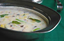 Olan is a Kerala dish made with coconut milk and pumpkin as the main ingredient.