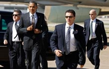 Recently, an armed security contractor rode an elevator with Barack Obama