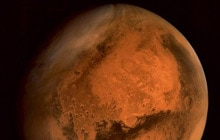 It said the image was taken from an altitude of 74,500 kms from the surface of Mars