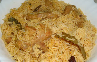 This delectable pulav is filling and tastes yummy