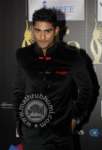 Bollywood actor Prateik Babbar arrives on the 'green carpet' for the Jaypee International Indian Film Academy (IIFA) awards held on Saturday June 9, 2012 in Singapore