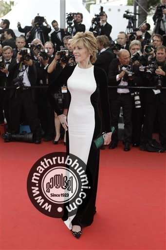 Actress Jane Fonda arrives for the screening of Rust and Bone at the 65th international film festival, in Cannes, southern France, Thursday, May 17, 2012<br/>
