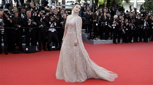 Actress Fan Bingbing arrives for the screening of Rust and Bone at the 65th international film festival, in Cannes, southern France, Thursday, May 17, 2012<br/>