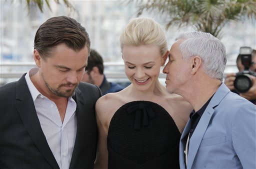 From left, actors Leonardo DiCaprio, Carey Mulligan and director Baz Luhrmann pose for photographers during a photo call for the film The Great Gatsby at the 66th international film festival, in Cannes, southern France, Wednesday, May 15, 2013. (AP Photo/Lionel Cironneau)